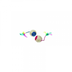 Bold sisal m/katteurt og klokke. Karlie Flamingo