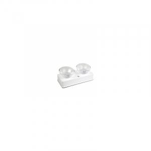 Glasskåle Catit 2x400 ml. Hvid med holder så skålen hæves fra gulvet.