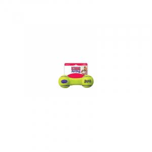 KONG AIRDOG SQUEAKER DUMBBELL S 14x6CM. Tennis bold materiale som ikke slider hundens tænder