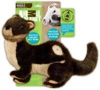 Hund legetøj Animal Planet squeaker ECO VÆSEL med bold 19 cm ALLE FOR PAWS