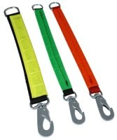 Forlænger til line med refleks, Grøn 24 mm x 20 cm.