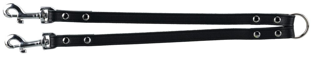 Basic Læder Splitter M-L 35 cm./18 mm. Sort. Udgår