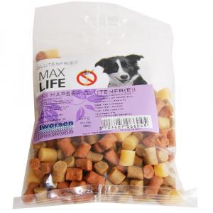 MAX LIFE MINI HAPSER 200 G. Max Life Mini Hapser - 200 gram GLUTENFRI godbidder til hunden.