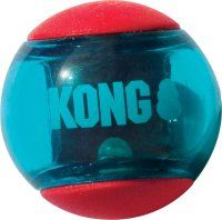 Kong Squeezz Action Ball Red. Medium. 3 stk.