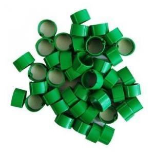Hønsering plastik. Grøn. Ø14 mm.