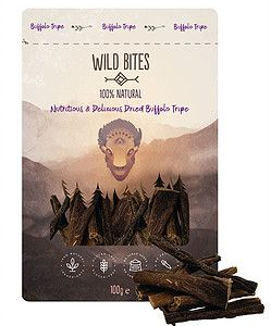 Buffalo tripe sticks 100 % natural. 100 g.