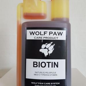 WolfPaw Care Product, BIOTIN flydende 500 ml. Indeholder 5 typer B Vitamin