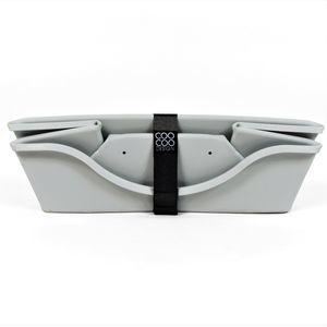 CooCoo Design, WonderFold® sammenklappelig kurv, stor, 90 x 45 x 24 cm. Lysegrå
