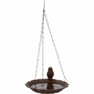 Hængende fuglebad Trixie brun jern