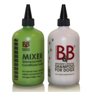 B&B blandeflaske til shampoo og conditioner