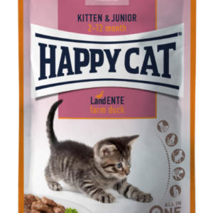 Happy Cat kitten og junior vådkost And