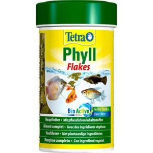 Tetra Phyll Flakes, 250 ml. Plantebaseret foder til prydfisk.