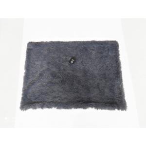 fluffy tæppe kosgrå